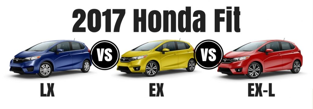 2017 honda fit lx vs ex vs ex l. Black Bedroom Furniture Sets. Home Design Ideas