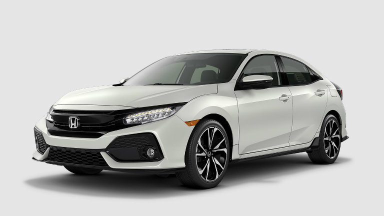 2017 Honda Civic Hatchback in White Orchid