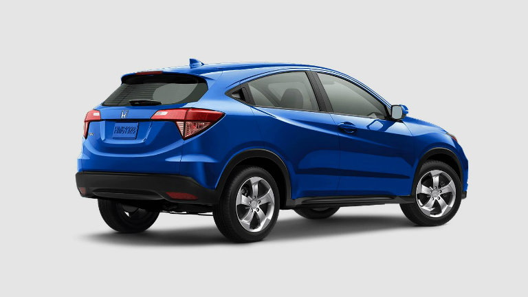 2018 Honda HR V In Aegean Blue Metallic