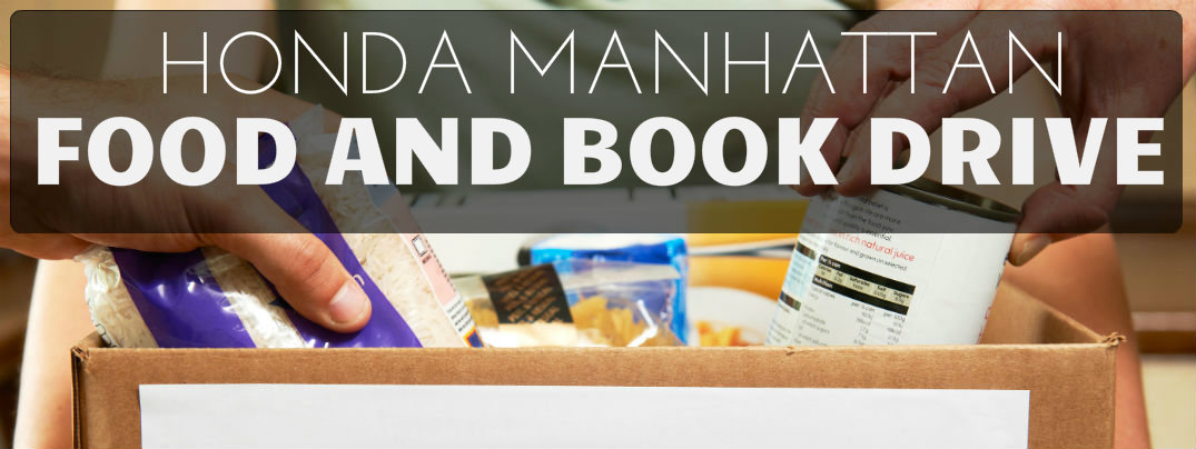 We 39 re hosting a food and book drive to support nyc charities for Honda dealer manhattan