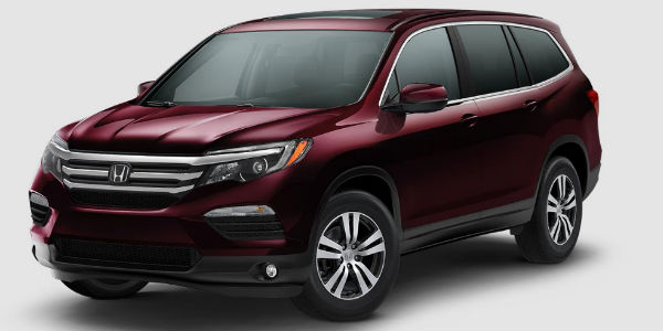 2017 Honda Pilot in Dark Cherry