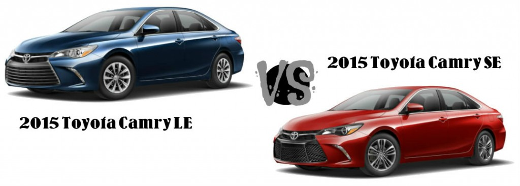 2015 toyota camry le vs toyota camry se. Black Bedroom Furniture Sets. Home Design Ideas