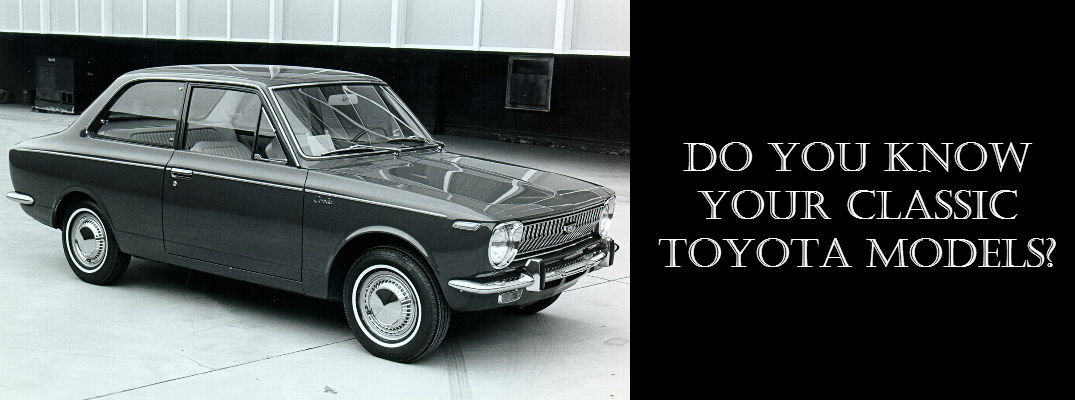 Pictures of classic Toyota models