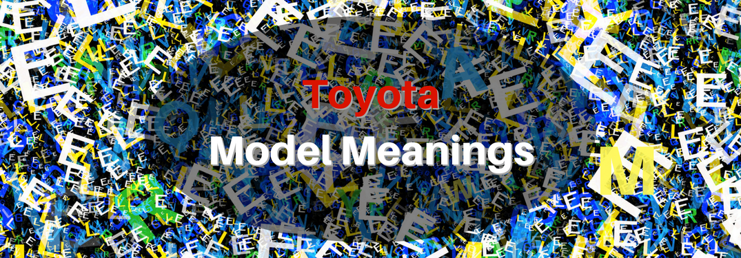 What Do Toyota Trim Level Acronyms Mean?