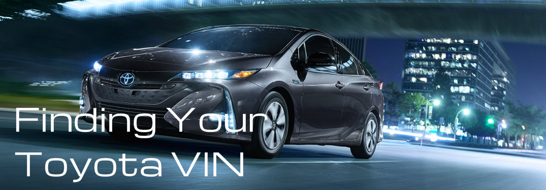 Where to Find Your Toyota VIN