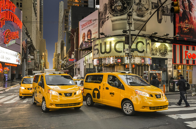 NYC taxis replaced by Nissan NV200
