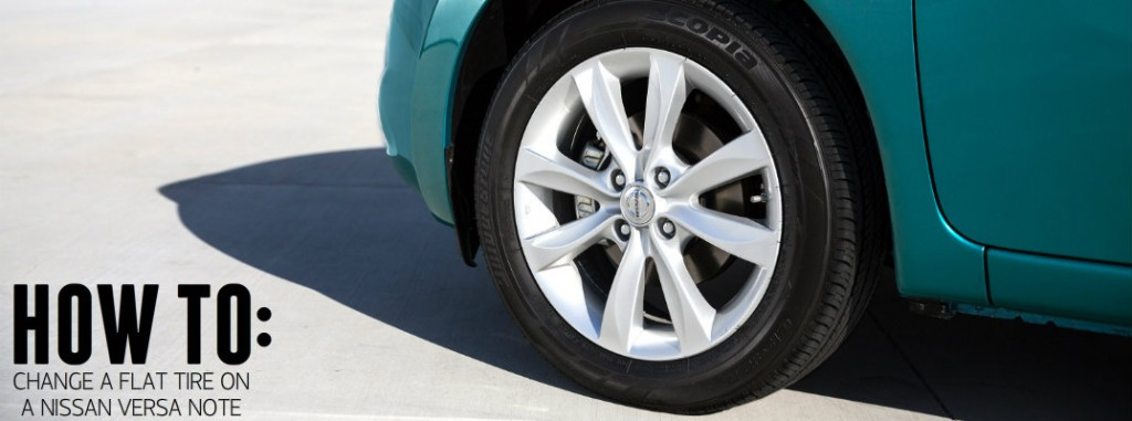 How to change a flat tire on a Nissan Versa Note