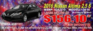 Dayton, OH Nissan Altima lease specials