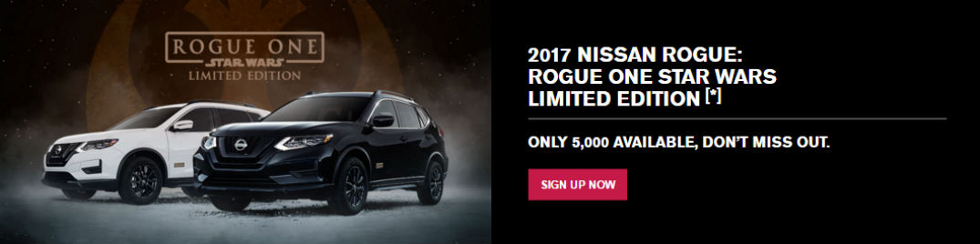 Special Edition Nissan Rogue One sign up