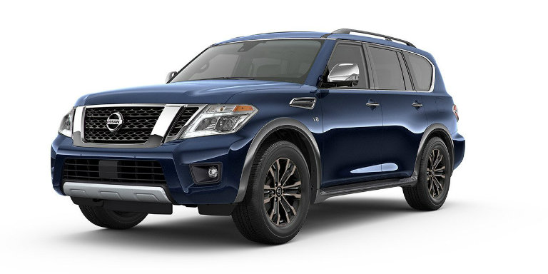 What are the 2017 Nissan Armada's color options?