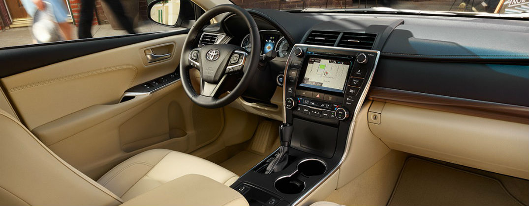 What is the Toyota Entune Interface at j Pauley Toyota-New Toyota-Toyota Camry Interior-Toyota Technology-Fort Smith AR