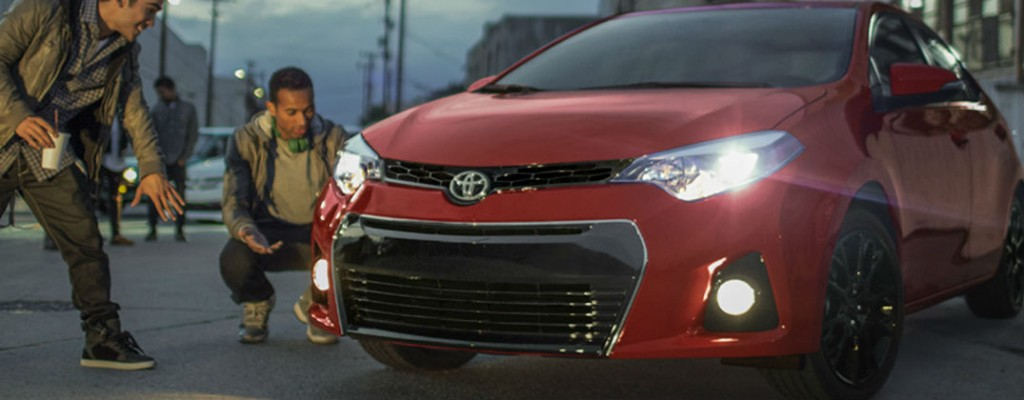 What's New for the 2016 Toyota Corolla? at J. Pauley Toyota-Fort Smith AR-New Toyota Dealer-2016 Toyota Corolla Red Exterior Front End
