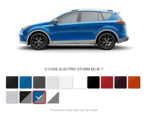 What Are The Color Options For The 2016 Toyota Rav4