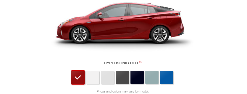 What Are the Color Options for the 2016 Toyota Prius?