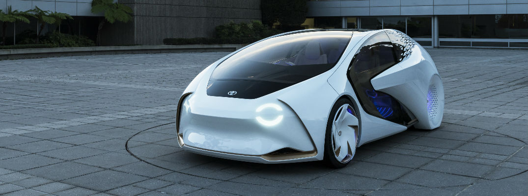 White Toyota Concept-i Front Exterior Design