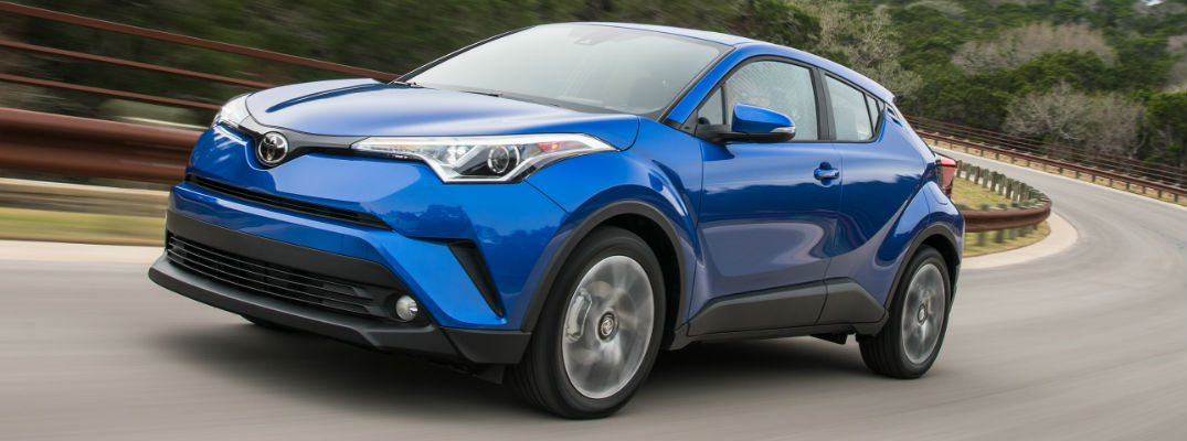 Blue 2018 Toyota C-HR Exterior on Road