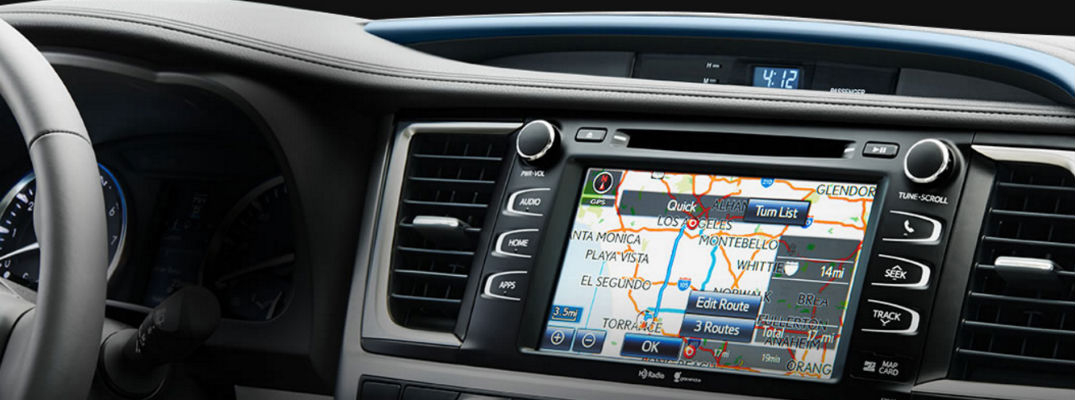 Close Up of Toyota Entune Touchscreen Display with Navigation