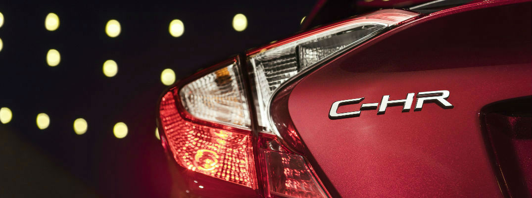 Close Up of 2018 Toyota C-HR Taillight and Badge