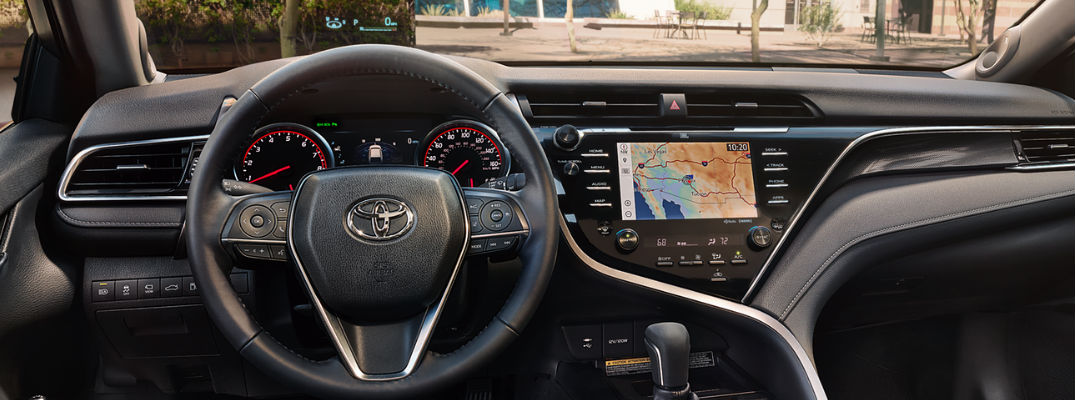 2018 Toyota Camry Dashboard with 10-inch Color HUD, 7-inch Multi-Information Display and Toyota Entune 3.0