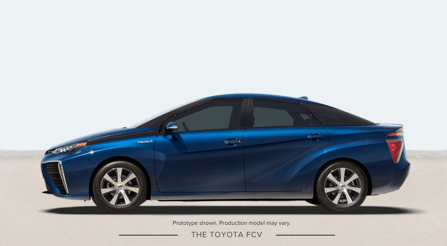2016 Toyota Mirai Fuel Cell Vehicle release date
