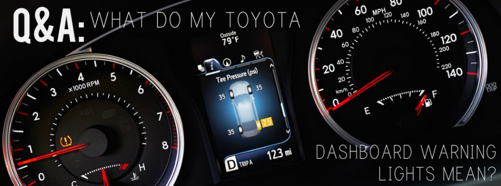what do my toyota dashboard warning lights mean. Black Bedroom Furniture Sets. Home Design Ideas