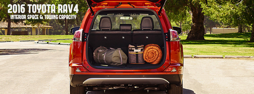 2016 toyota rav4 interior space and towing capacity. Black Bedroom Furniture Sets. Home Design Ideas