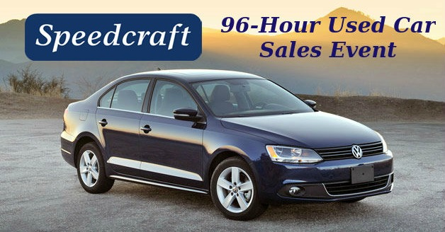 96-Hour Used Car Sales Event