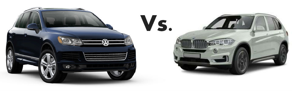 tale of the tape 2014 vw touareg vs 2014 bmw x5 speedcraft vw. Black Bedroom Furniture Sets. Home Design Ideas