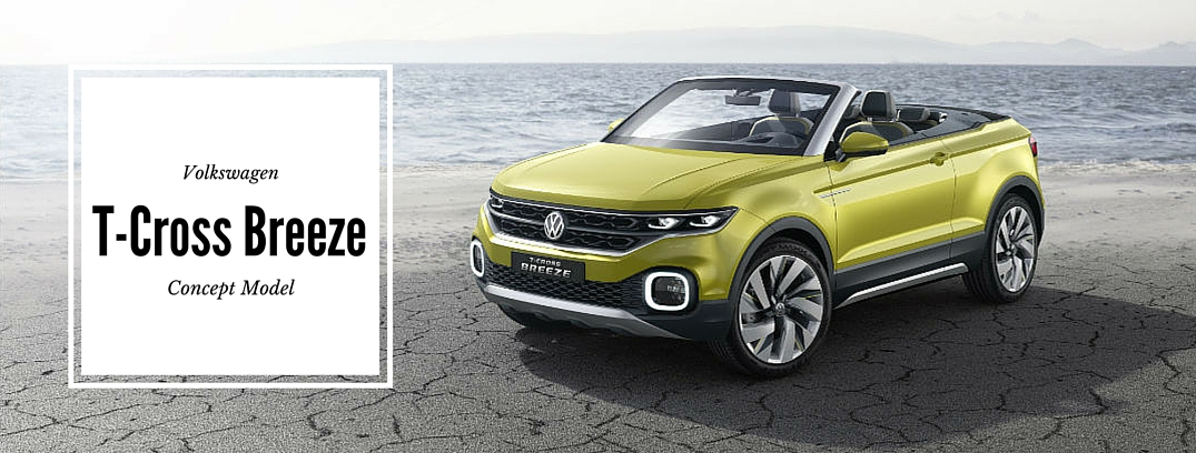 volkswagen t-cross breeze concept car exterior front top down