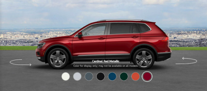 2018 VW Tiguan in Cardinal Red Metallic
