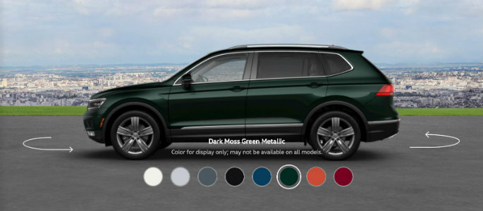 2018 VW Tiguan in Dark Moss Green Metallic