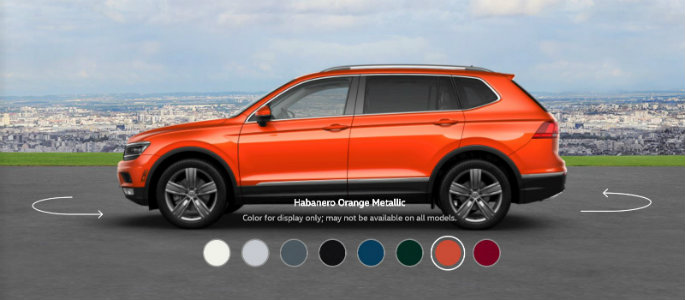 2018 VW Tiguan in Habanero Orange Metallic