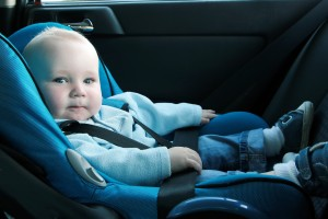 Rear facing car seat for infants