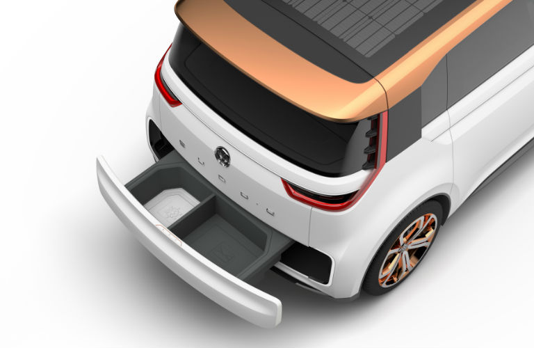 VW Budd-e remote cargo space