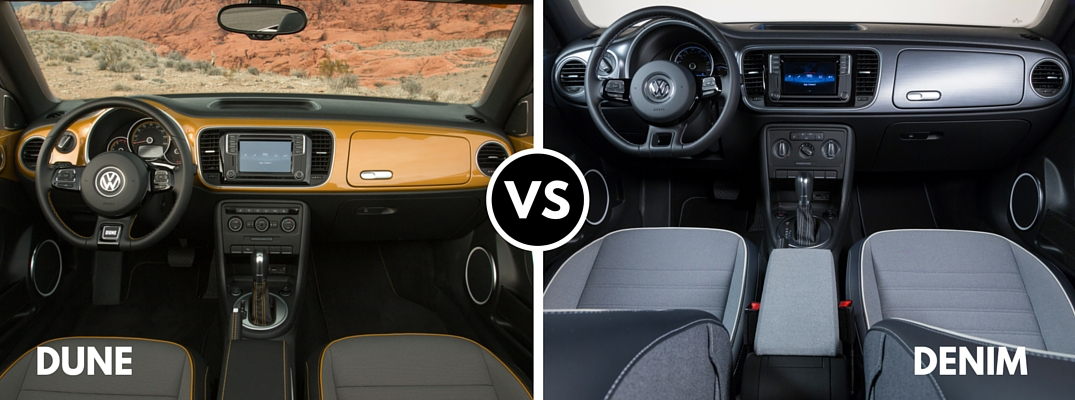 2016 Volkswagen Beetle Denim vs Dune interior colors