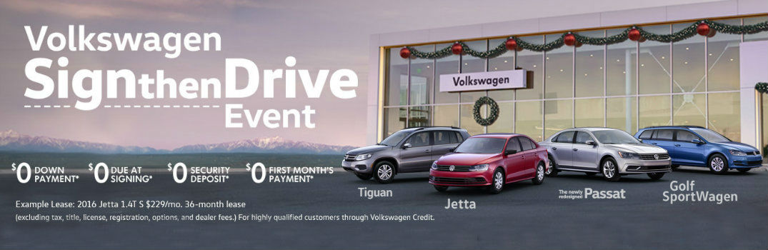 2016 Volkswagen Sign Then Drive Event sale end