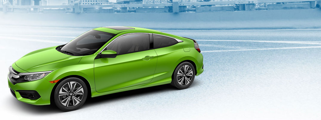New, 2016 Honda Civic coupe gets neon green color option