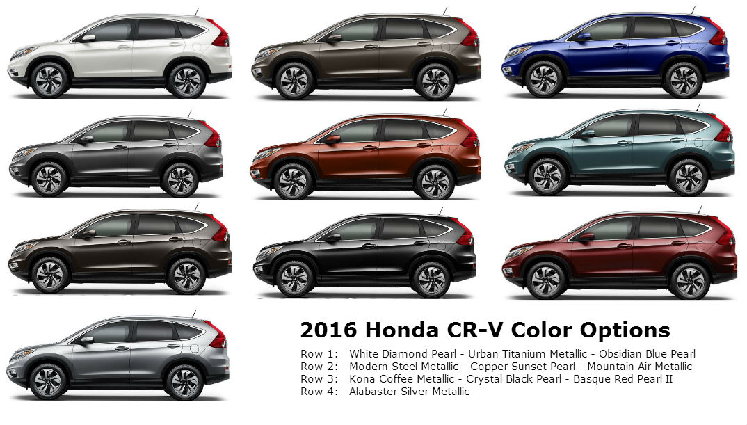What Are The 2017 Honda Cr V Color Options
