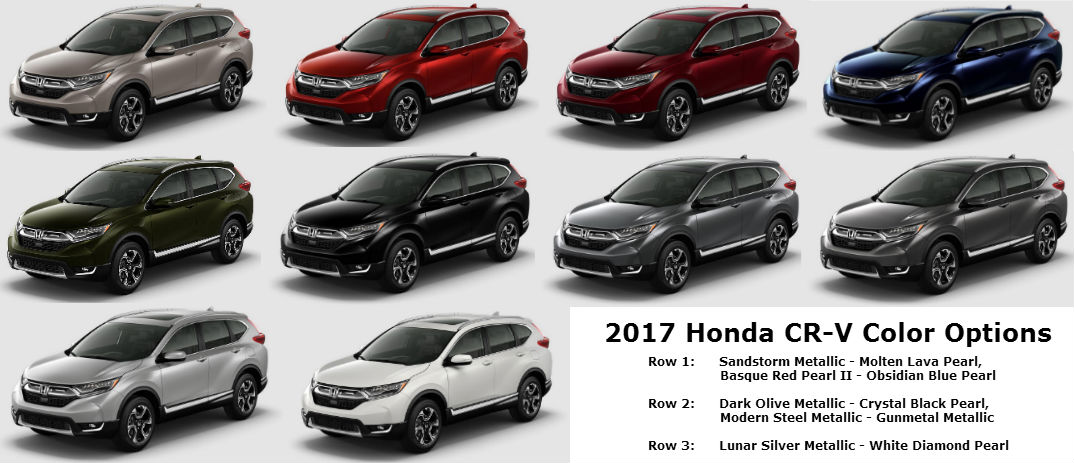 what are the 2017 honda cr v color options. Black Bedroom Furniture Sets. Home Design Ideas