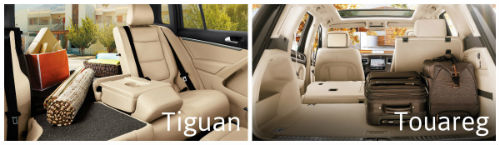 Differences Between 2015 VW Tiguan vs 2015 VW Touareg cargo space