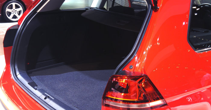 rear hatch back cargo space in the 2017 vw golf sportwagen alltrack