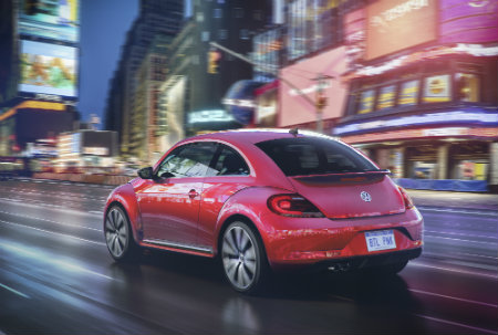 exterior design features styling on the 2017 #pinkbeetle pink beetle