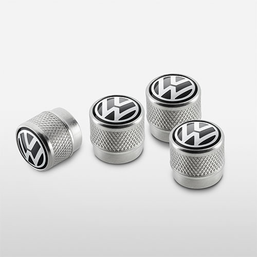 valve stem caps with the Volkswagen logo