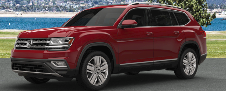 2018 vw atlas painted in fortana red metallic