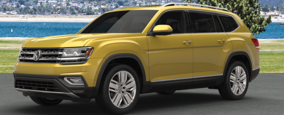 2018 vw atlas painted in kurkuma yellow metallic