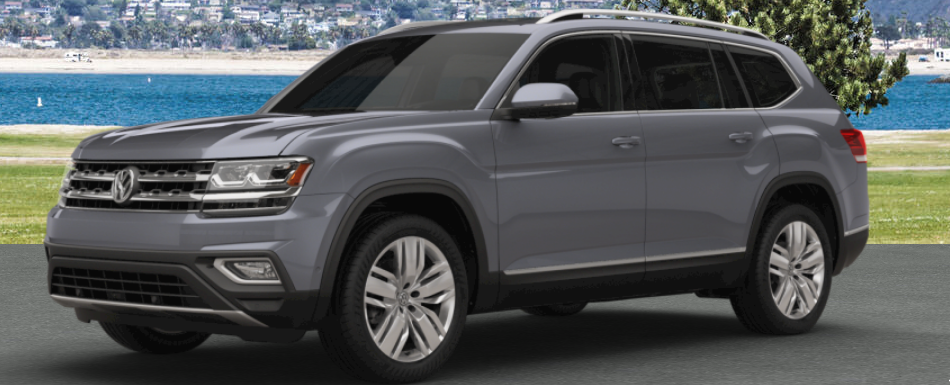 2018 vw atlas painted in platinum gray metallic