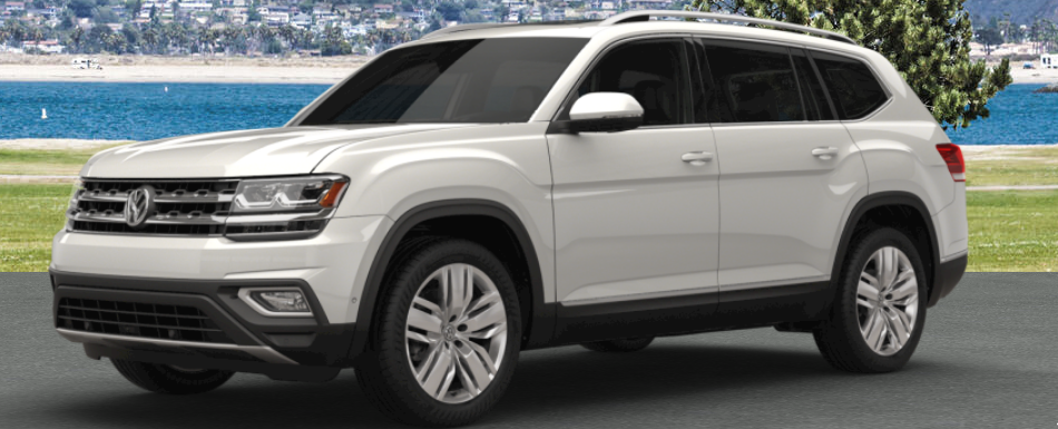 2018 vw atlas painted in pure white