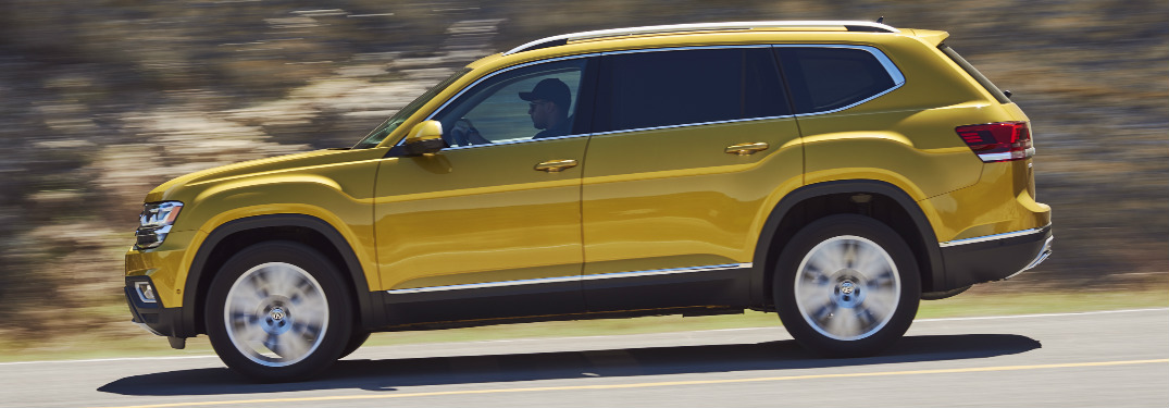 2018 VW Atlas exterior side driving down highway