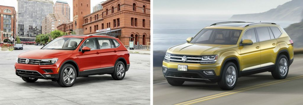 difference   tiguan  vw atlas