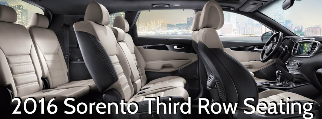 Does The 2016 Kia Sorento Have Third Row Seating
